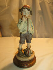 G. Armani School Boy Eating Apple Figurine Gullivers Travels c 1980s Italy 3V1