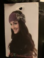 EGE Black Sequin Headband with Adjustable Fit. NWT. Ships Free Within US.