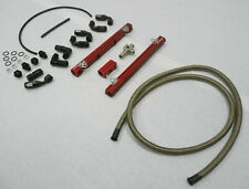 OBX Red Fuel Rail With Braided Hose Fits 98-04 Ford Mustang Cobra GT 4.6L