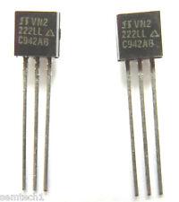 VN2222LL VN2 222LL Trans MOSFET N-CH 60V 0.23A 3-Pin TO-92 x2pcs
