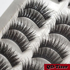 3D Real Mink Eyelashes 10 Pairs Natural False Long Thick Handmade Lashes Makeup