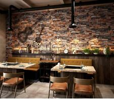Vintage Stone Brick Red Wallpaper For Walls Roll 3D PVC Waterproof Wallpapers