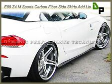 Carbon Fiber Side Skirt Add-on Lip For 2009-2014 BMW E89 Z4 w/ M-Sport Package