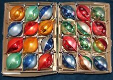 2 Vintage Boxes of 12 Glass Christmas Ornaments #1