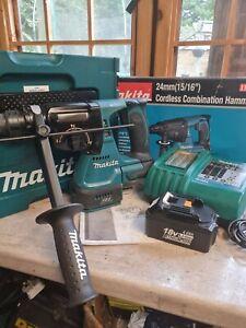Makita 18v Brushless SDS DHR242 Set.