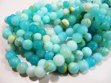 Natural Aqua Chalcedony Tumbled Nugget Briolette beads 20 to 30mm Strand 8 inch