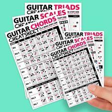 Small + Large Guitar Cheatsheet Bundle (6 pack)