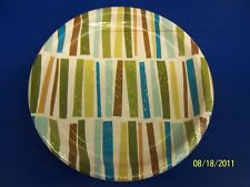"""Striped Palm Tree Summer Luau Party 9"""" Dinner Plates"""