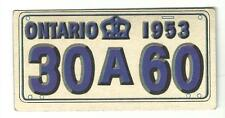 1953 Topps License Plate Card Canada - Province of Ontario #41