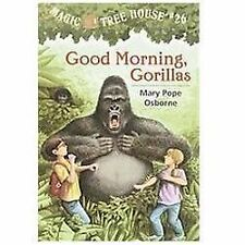 Good Morning, Gorillas by Mary Pope Osborne (2002, Hardcover)