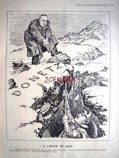 """1943 Hitler, Donetz WW2 Punch Cartoon Print - """"A Labour of Love"""""""