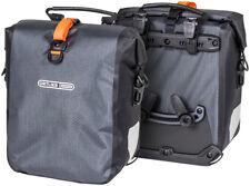 Ortlieb Gravel Pack Pannier Set: 25 Liter Gray/Black