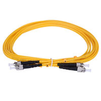 3 M ST to ST Single Mode 9/125 Duplex Fiber Optic Patch Cord Jumper Cable