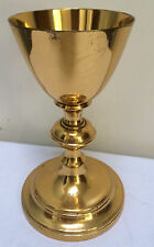 """7 1/4"""" BENZIGER BROTHERS GOLD PLATED CHALICE with STERLING SILVER CUP  - 499 -"""