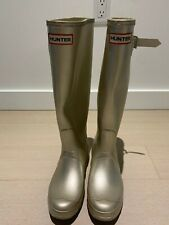 Hunter Boot Original Tall Metallic Welly - Gold US8/38
