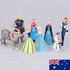Disney FROZEN 8 Figure Cake Topper Set Elsa Anna doll Olaf LOOSE Figurine toy