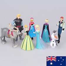 Disney FROZEN 8 Figure Cake Topper Set Elsa Anna doll Olaf LOOSE Figurine toy