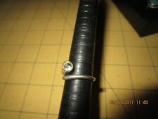 Sterling Silver Cubic Zirconia CZ Bypass Fashion Ring nail sz 6 .5