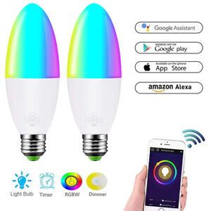 HOT!!! NEW Wifi Smart Multi-Color LED Light Bulb for Amazon Alexa Google Home k5