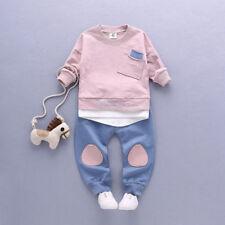 otoño Para Recién Nacido Bebé Niño Niños Camiseta Blusas + pantalones leggings