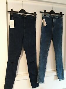 TWO PAIRS GIRLS ASOS  JEANS WAIST 26 NEW WITH TAGS