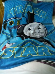 "Thomas The Tank engine Fleece Blanket. 62""x46""."