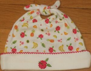 NEW Vintage 2001 GYMBOREE Summer Fun BEANIE Knot Cap HAT Pineapple Sz 3-6 mo NWT