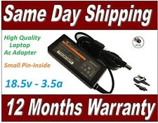 HP Compaq 18.5v 3.5a Laptop Ac Adapter Charger Replacement 65W + UK Power Cord