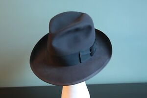 STUNNING, NEARLY MINT Vintage 50's STETSON WHIPPET, Charcoal Gray, 7 1/8th