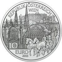 Österreich 10 Euro 2015 Bundesland Wien Handgehoben im Folder