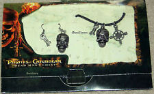 Disney Pirates of the Caribbean Dead Man's Chest Necklace & Skull Earrings Set