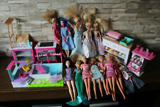 Barbie Kitchen, Swimming Pool and Various Doll Set  - x12 Dolls - Accessories