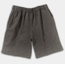 HANES BOYS SIZE XL CHARCOAL HEATHER JERSEY SHORTS w/ POCKETS