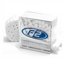 ROTOLI di cotone F2 medico per uso dentale, 600 pezzi per busta, 28mm x 10mm