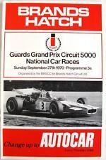 BRANDS HATCH Guards Grand Prix Official Motor Racing Programme 27 Sep 1970