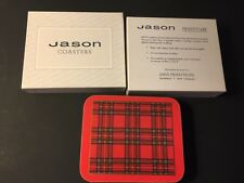 Jason Set of 6 ROYAL STEWART TARTAN Coasters Cork Backed & Heat Resistant