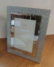 """The Leonardo Collection Mirror Glitter Photo Frame 4""""x6"""" New (AAA)"""
