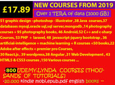 800 UDEMY COURSES + 20000 books + 2500 classical cds ...