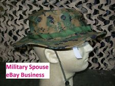 USMC MARPAT Woodland Boonie Hat Sekri Industries size Large NEW
