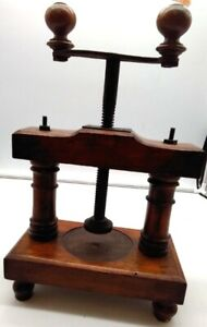 Cheese Press Wooden Mechanical Vintage