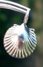 SOLID Sterling Silver Sea Shell Pendant Scallop Handmade Jewelry STAMPED 925