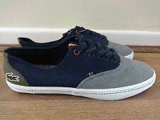 Lacoste Chaney 3 shoes sneakers navy blue/grey uk 8 eu 42 us 9 NEW + TAGS