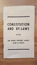 VTG 1956 Constitution and By-Laws of the Air Force Officers' Wives Club of Tokyo