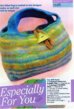 ~ Knitting Pattern For Gorgeous Felted  Bag ~
