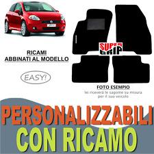 TAPPETI AUTO SU MISURA PER FIAT GRANDE PUNTO MOQUETTE FONDO GOMMA + RICAMO EASY