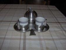 SERVIZIO DA CAFFE' PER DUE INOX 18/10 MARCA MORINOX  ANNI 70