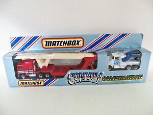 MATCHBOX CONVOY COMBINATION 'Kenworth Transporter & Peterbilt Wrecker' MIB. RARE