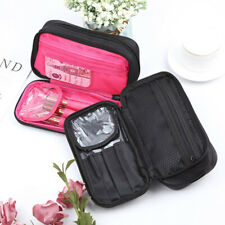 1PC Double Layer Zipper Cosmetic Makeup Brush Bag Organizer Nylon Storage Case