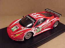 Fujimi 1/43 resina Ferrari 458 Italia GT2 2011 LeMans de lujo carreras