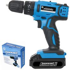 Silverline 18V Combi Hammer Drill Driver 10mm Keyless Chuck with Li-Ion Battery